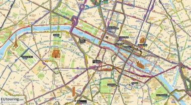 """Bus routes within Paris"" by Martyn Davis, is used under license CC BY-NC-SA 2.0"